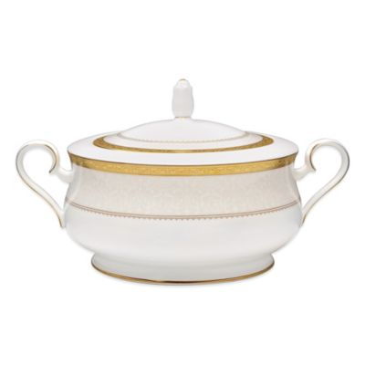 Noritake® Odessa Gold Covered Vegetable Bowl
