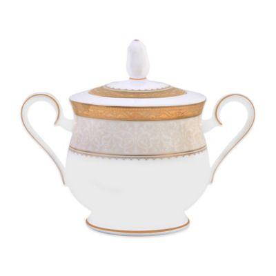 Noritake® Odessa Gold Covered Sugar Bowl