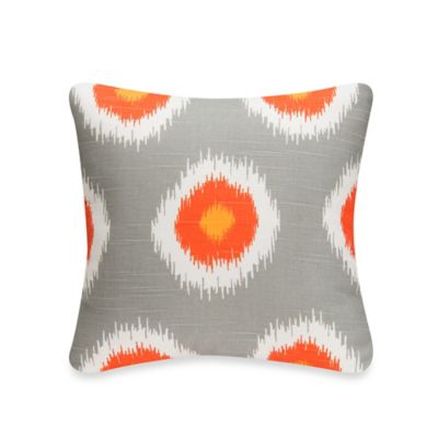 Glenna Jean Rhythm Square Throw Pillow in Orange Orbs