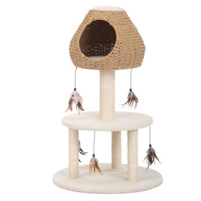 Pet Pals Paper Rope 3-Level Cat Condo