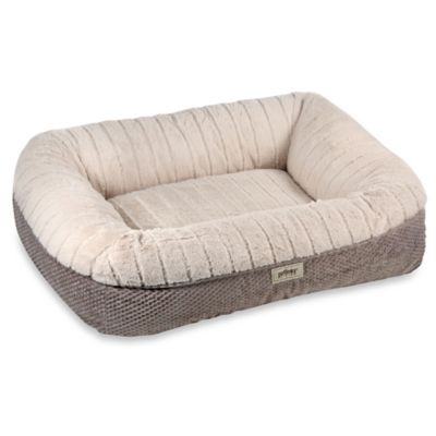 PetLinks Memory Lounger Deluxe Pet Bed in Taupe