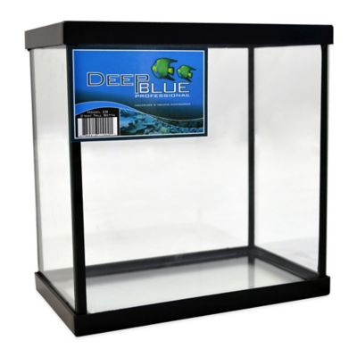 Deep Blue Professional 1-Gallon 2-Way Betta Tank with Black Frame