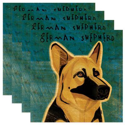 "Thirstystone® ""German Shepherd"" Coasters (Set of 4)"