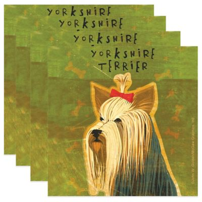 """Thirstystone® """"Yorkshire Terrier"""" Coasters (Set of 4)"""