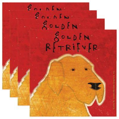 "Thirstystone® ""Golden Retriever"" Coasters (Set of 4)"