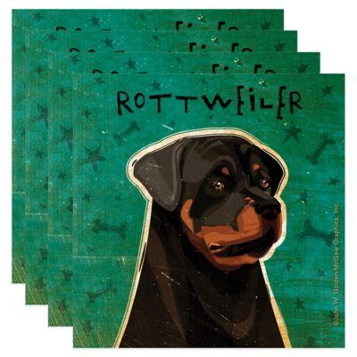 "Thirstystone® ""Rottweiler"" Coasters (Set of 4)"