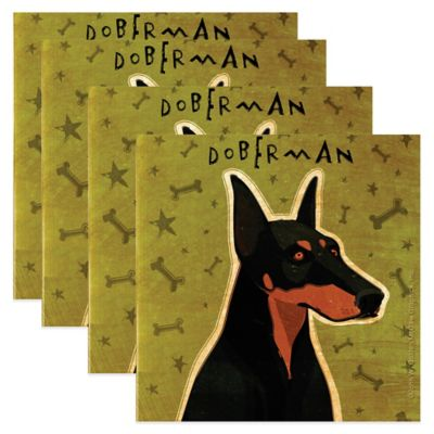 "Thirstystone® ""Doberman"" Coasters (Set of 4)"