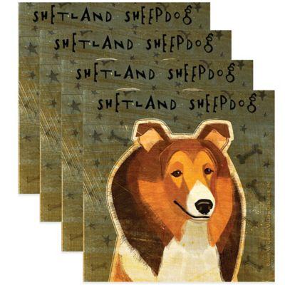"""Thirstystone® """"Shetland Sheepdog"""" Coasters (Set of 4)"""