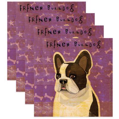 "Thirstystone® ""French Bulldog"" Coasters (Set of 4)"