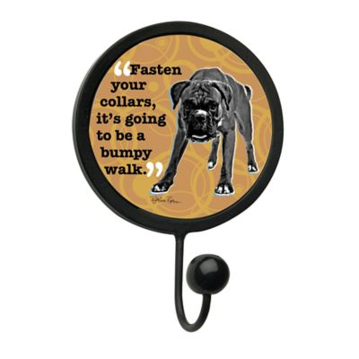 "Thirstystone® ""Fasten Your Collars"" Leash Hook in Black"