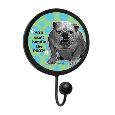 "Thirstystone ""You Can't Handle The Poop"" Leash Hook in Black"