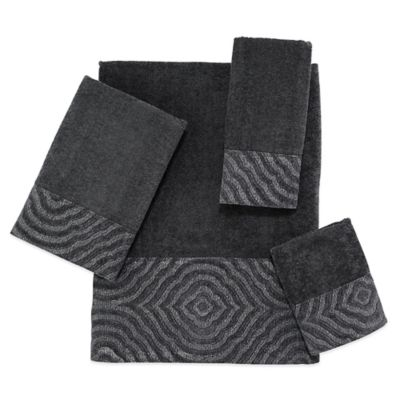 Avanti Mongomery Fingertip Towel in Graphite