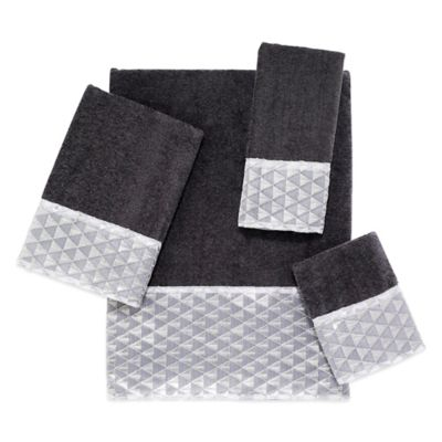 Avanti Diamonte Fingertip Towel in Granite