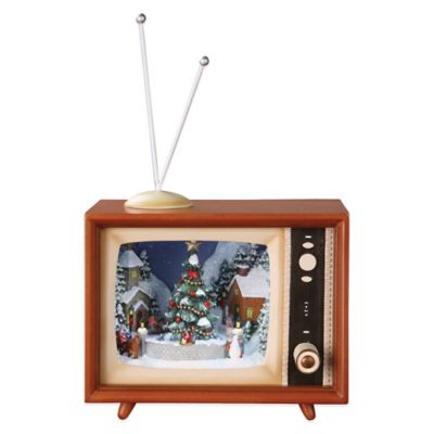 Roman Retro TV with Sledders Musical Figure