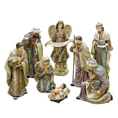 Roman 8-Piece Porcelain Nativity Set with Soft Colorway