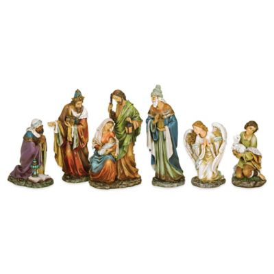 Roman 6-Piece Painted Nativity Set