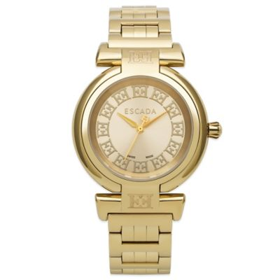 ESCADA Ladies' 34mm Lauren Watch in Gold-Plated Stainless Steel