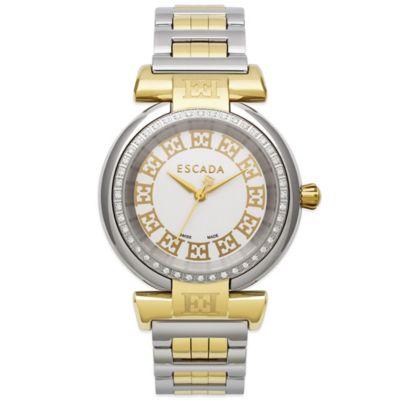 ESCADA Lauren Ladies' 34mm Diamond Bezel Watch in Two-Tone Stainless Steel
