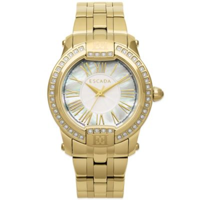 ESCADA Madeline Ladies' 33mm Watch in Ion-Plated Gold Stainless Steel with Mother of Pearl Dial