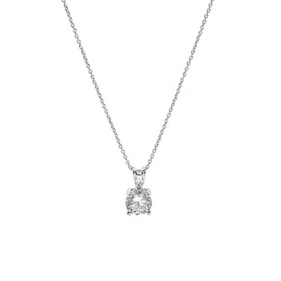 CZ by Kenneth Jay Lane Round Cubic Zirconia Pendant Necklace