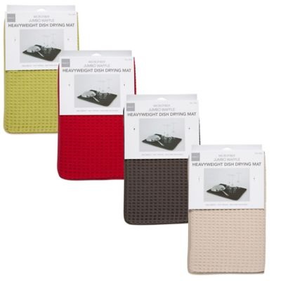 Deluxe Waffle Dish Drying Mats in Khaki (Set of 2)