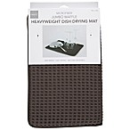 Deluxe Waffle Dish Drying Mats in Grey (Set of 2)