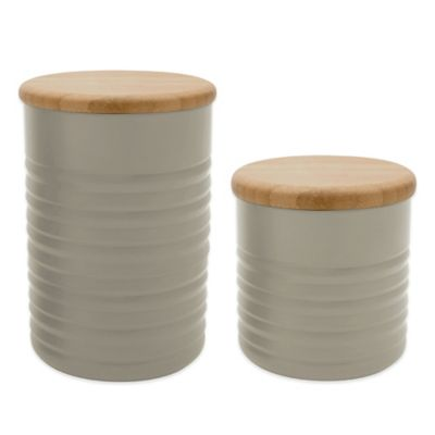 Typhoon® Ripple Large Canister in Stone