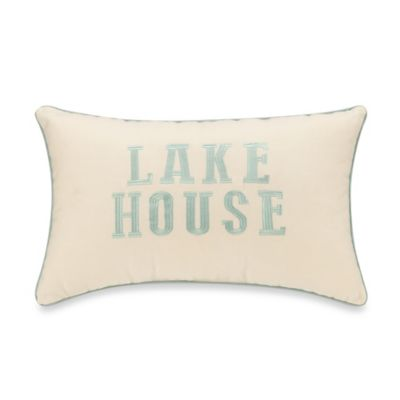 Avondale Embroidered Oblong Throw Pillow