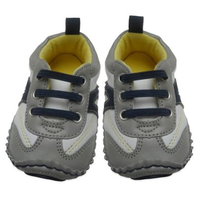 Rising Star™ Size 9-12M Rocker Athletic Sneaker in Grey/Navy