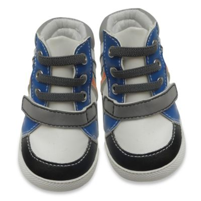 Rising Star Size 3-6M High Top Sneaker in Blue/White