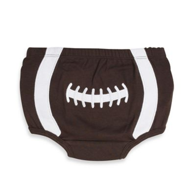 Little Rugged by RuggedButts™ Size 0-6M Football Bloomer in Brown