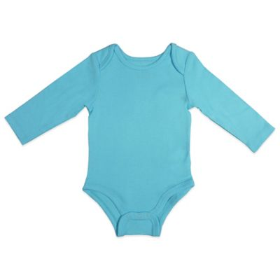 Aqua Long-Sleeve Bodysuit