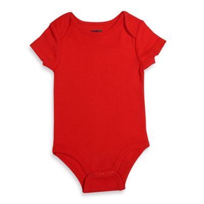 Mayfair Infants Wear 0-3M Unisex Short-Sleeve Bodysuit in Red