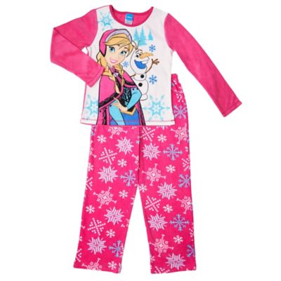 "Disney® Size 4/5 ""Frozen"" 2-Piece Elsa and Olaf Fleece PJ Set in Pink"