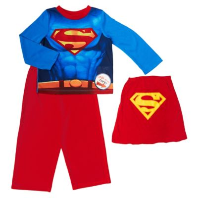 Superman Size 2T 2-Piece PJ Set with Detachable Cape