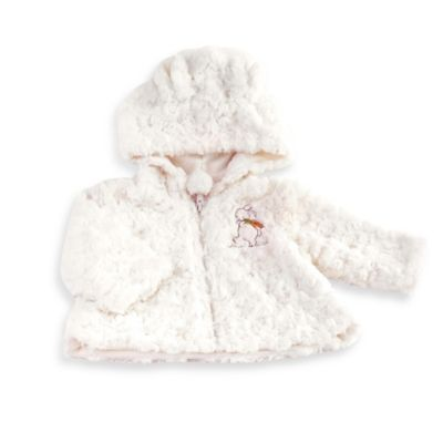"Bunnies by the Bay Size 3-6M Plush ""Fur"" Cozy Coat in Cream"