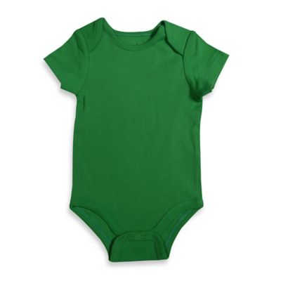 Mayfair Infants Wear Size 6-9M Short-Sleeve Bodysuit in Green