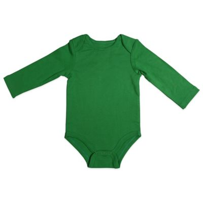 Mayfair Infants Wear Size 0-3M Long Sleeve Bodysuit in Green