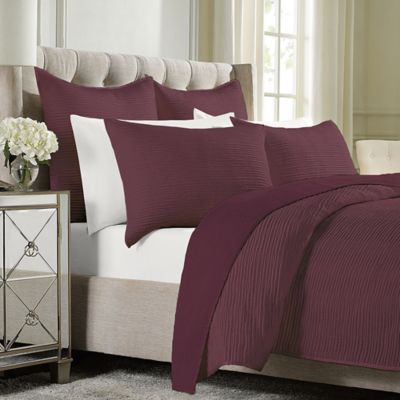 Wamsutta® Serenity Twin Coverlet in Wine
