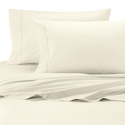 Ultimate Percale Olympic Egyptian Cotton Queen Sheet Set in Ivory
