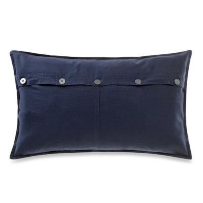 Mineral Oblong Throw Pillow in Navy
