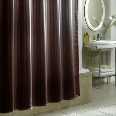 Striped White Shower Curtains