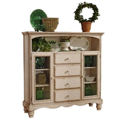 Hillsdale Wilshire 4-Drawer Baker's Cabinet in Antique White