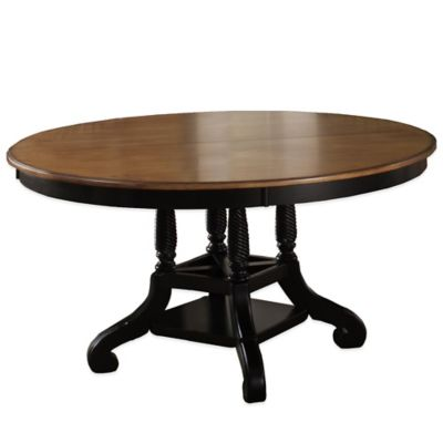 Hillsdale Wilshire Round Dining Table in Antique White