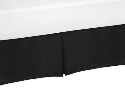 Sweet Jojo Designs Trellis Twin Bed Skirt in Black and White