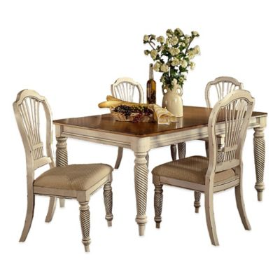 Hillsdale Wilshire 5-Piece Rectangle Dining Set in Antique White