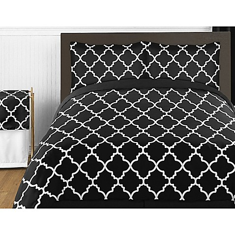 Sweet Jojo Designs Trellis Bedding Collection In Black And