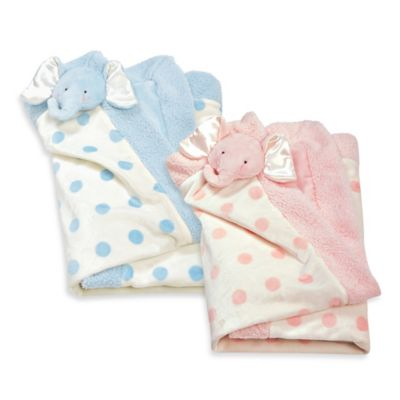 Bunnies by the Bay Peanut Blanket in Blue Polka Dot
