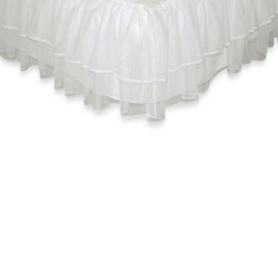 Tadpoles Tulle Triple Layer Full Bed Skirt in White