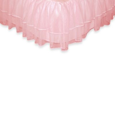Tadpoles Tulle Triple Layer Full Bed Skirt in Pink